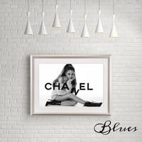 アリアナグランデ シャネル _A4サイズ『Blues』