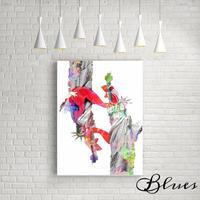 自由の女神像 ニューヨーク コラージュアート キャンバス_A2A1サイズ『Blues』