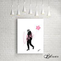 ダースベイダー スターウォーズ ラブ アート キャンバス_A2A1サイズ『Blues』