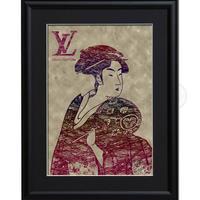 A4 ポスターフレームセット 【団扇を持つおひさ × Louis Vuitton #sh44 】