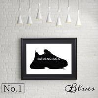 バレンシアガ スニーカートリプルS_A4サイズ『Blues』