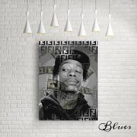 ウィズカリファ フェンディ ヒップホップ アート キャンバス_A2A1サイズ『Blues』