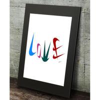 ナイキ ロゴ LOVE おしゃれ コラージュアート 現代アート  高級マットパネル_A2A1サイズ『Blues』