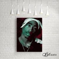 2パック ヴィトン モノグラム ヒップホップ アート キャンバス_A2A1サイズ『Blues』