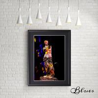 ミロのヴィーナス アフロディーテ ギリシャ神話 コラージュ_A4サイズ『Blues』