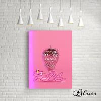 ピンクパンサー プラダ ストロベリー オマージュアート_P10P20サイズ『Blues』
