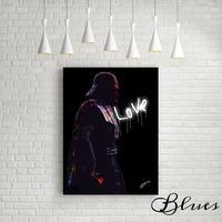 ダースベイダー スターウォーズ 薔薇 アート キャンバス_A2A1サイズ『Blues』