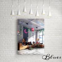 アリアナグランデ ディズニー アート キャンバス _A2A1サイズ『Blues』