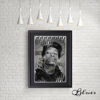 ウィズカリファ フェンディ ヒップホップ アート_A4サイズ『Blues』