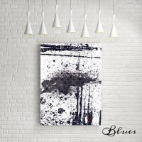 抽象画 ルイヴィトン ブラックアンドホワイト オマージュアート_P10P20サイズ『Blues』