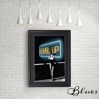 バニーガール ネオンサイン レベルアップ_A4サイズ『Blues』