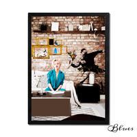マリリンモンロー バンクシー コラージュアート_A2A1サイズ『Blues』