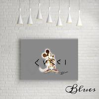 ミッキー グッチ バレンシアガ コラージュアート_P10P20サイズ『Blues』