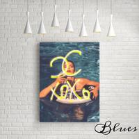 xoxo 水着ビキニガール シャネル キャンバス_A2A1サイズ『Blues』