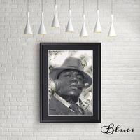 ノートリアス b.i.g ヴィトン モノグラム ヒップホップ アート _A4サイズ『Blues』