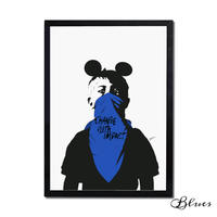 ドルク ミッキー ストリート★オマージュアート現代アート_A2A1サイズ『Blues』