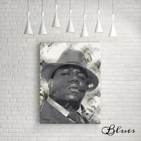 ノートリアス b.i.g ヴィトン モノグラム ヒップホップ アート キャンバス_A2A1サイズ『Blues』