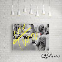 リアーナ コラージュ ニューヨーク おしゃれ アート_P10P20サイズ『Blues』