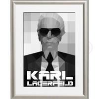 A4 ポスターフレームセット 【 KARL LAGERFELD ポップアート #hi16 】