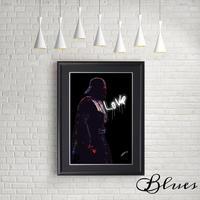 ダースベイダー スターウォーズ 薔薇 アート_A4サイズ『Blues』