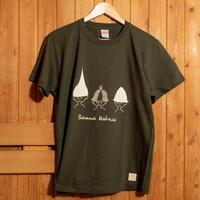 サウナハットリオTシャツ(カーキ)