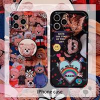 熊のぬいぐるみ iPhone12 ケース black