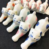 陶器製  箸置き 猫(単品売り)
