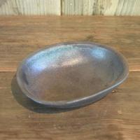 楕円小鉢 黒 / 福光焼  D113