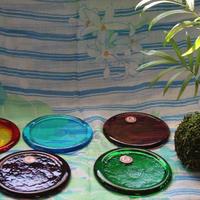 沖縄ガラス コースター