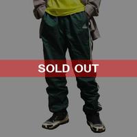 【USED】90'S ADIDAS 3-STRIPES LOGO NYLON TRACK PANTS GREEN