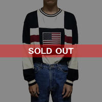 【USED】90'S USA COTTON KNIT SWEATER