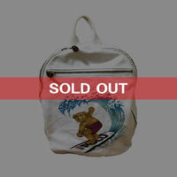 【USED】90'S RALPH LAUREN POLO BEAR CANVAS BACKPACK