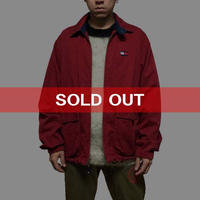 【USED】90'S TOMMY HILFIGER FLAG LOGO COTTON JACKET RED