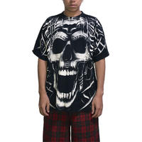 【USED】90'S  FULL PRINT SKULL T-SHIRT