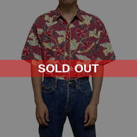 【USED】WRANGLER ALOHA SHIRT with WESTERN STYLE