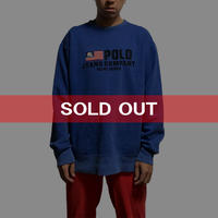 【USED】90'S POLO JEANS EMBROIDERY SWEATSHIRT