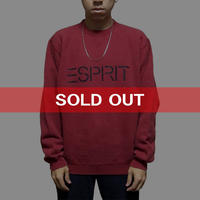 【USED】90'S ESPRIT SWEATSHIRT WINERED