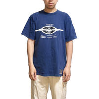 【USED】90'S THIRD STONE REFLECTOR GRAPHIC T-SHIRT NAVY