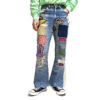 """【USED】70'S LEVIS BIG """"E"""" PATCHWORK JEANS"""