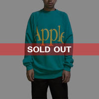 【USED】80'S-90'S APPLE LOGO SWEATSHIRT EMERALD GREEN