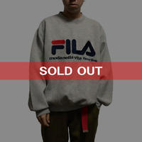【USED】90'S  FILA SWEATSHIRT GRAY