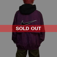 【USED】90'S NIKE NYLON JACKET PURPLE