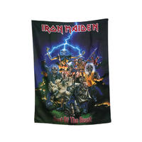 【USED】90'S IRON MAIDEN SCARF MADE IN ITALY