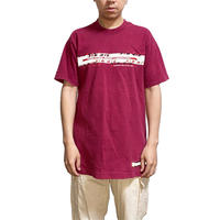 【USED】90'S THIRD STONE REFLECTOR GRAPHIC T-SHIRT WINE RED