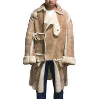 【USED】80'S WORLDS END MOUTON BUFFALO COAT MADE BY MINTOS TAILOR