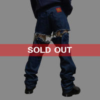 "【USED】90'S VIVIENNE WESTWOOD ""CUT AND SLASH"" GARTERBELTS JEANS"