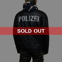 【USED】GERMAN POLICE LEATHER JACKET BLACK