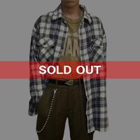 【USED】LEVI'S OVERSIZED CHECK SHIRT