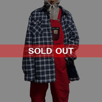【USED】OVERSIZED CHECK SHIRT JACKET