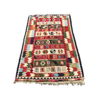 【USED】VINTAGE HANDMADE OLD KILIM OF IRAN
